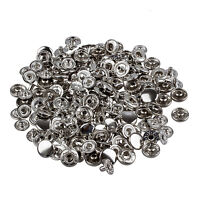 50 Set Metal No Sewing Press Studs Buttons Snap Fastener 10mm SH