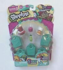 SHOPKINS Season 3  5-pack of Adorable Shopkins  - NEW Great BIRTHDAY Gift