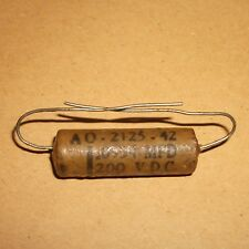 Vintage Fast Wax waxed 0.0934 MFD  Axial capacitor  200 VDC  For Valve Amps