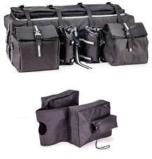 Universal Padded Storage/ Cargo Bag + Saddle Bags for ATV UTV Snowmobile- Black