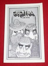 1980 Zz Top Capitol Theatre Passaic, New Jersey Concert Program