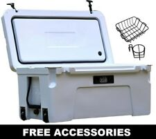 CASCADE COOLERS 75L WHITE ROTO MOLD ICE CHEST YETI QUALITY COOLER FREE S/H