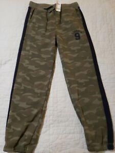 NWT Oshkosh Boys Pull on Pants Fleece hunter green camoflauge  size 10