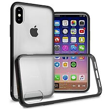 Clear w/ Black Rim Slim Fit TPU Bumpers Cover Phone Case for Apple iPhone XS / X