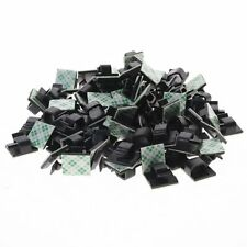 100x Self-adhesive Rectangle Wire Tie Cable Mount Clamp Clip for Home Applicance