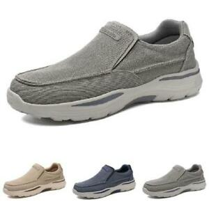 Size 39-48 Mens Canvas Pumps Loafers Shoes Breathable Outdoor Walking Non-slip L