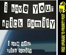 Family Stick Sticker Figure Decal Funny My Car Your Window 4x4 Ute RANSOM NOTE