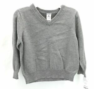 Carter's Toddler Boys Gray Long Sleeve Pull Over Sweater Size 2T
