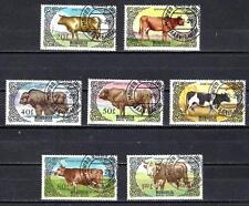 Animaux Bovidés Mongolie (191) série complète 7 timbres oblitérés