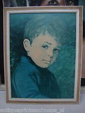 Alfie Crying boy G Bragolin retro kitsch print framed gypsy tear 60s 70s