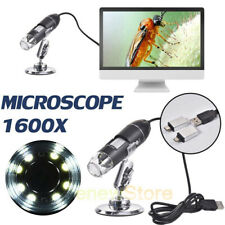 Usb Digital Microscope Endoscope 1600x Zoom 3 In 1 8led Magnifier Camera Stand
