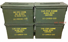 4 PACK .50 CALIBER 5.56mm AMMO CAN M2A1 50CAL METAL AMMO CAN BOX Very Good Cond.