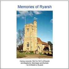 Ryarsh, Kent - Parish Register & Census Transcripts CD