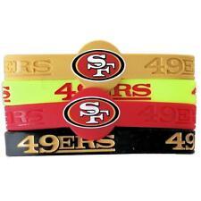 NFL San Francisco 49ers Silicone Rubber Wrist Band Bracelet Charm Gift Set of 4