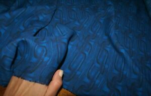 1m x 1.36m - 'BLUE WATERMARK LINKS' VISCOSE GEORGETTE FABRIC, Sewing Material