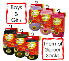 Red Tag Childrens 2.45 Tog Thermal Gripper Sock Boys Girls Warm Slipper Socks