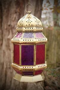 Moroccan style large golden lantern