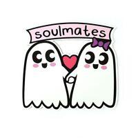 Soul Mates Ghosts Magnet for Refrigerator, Car Bumper, Office