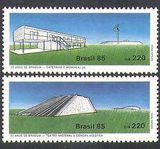 Brazil 1985 Brasilia/Theatre/House/Buildings/Architecture 2v set (n38120)