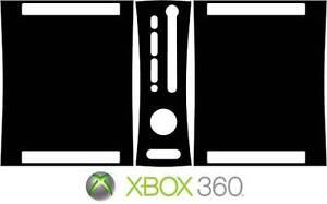 Xbox 360 Modifica Colore To Nero Vinile Adesivo Pelle