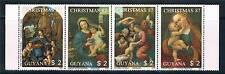Guyana 1988 Christmas 87 4v strip # 1856 MNH