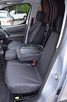 Citroen Berlingo Van 2008-2018 Waterproof Front 3 Black Seat Covers UK MADE
