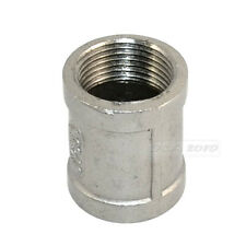 """Nipple 3/4"""" female - 3/4"""" 304 Stainless Steel threaded coupling Pipe Fitting NPT"""