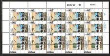 ISRAEL # 1115-1118 RAILROAD EQUIPMENT & MEMORABILIA.  Full Mint Sheets.