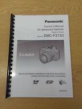 Panasonic Fz150 completo manual de usuario guía de instrucciones impreso 202 Páginas