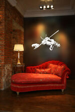 Violin Player Huge Wall Vinyl Decal,tailpiece,bow,case,Acoustic,french,poster