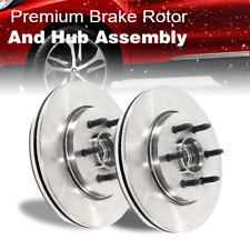 Front Disc Brake Rotor And Hub Assembly 2PCS For 1965-1967 Ford Mustang