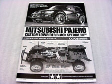 Tamiya 58627 Mitsubishi Pajero Black Special LowRider CC01 Instruction Manual NR