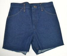 Vtg 1970's Maverick Men's Denim Cut-Off Blue Jean Shorts 100% Cotton 32 USA Made
