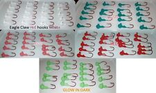 100 count Crappie 1/16 oz.#4  jig heads red,white,blue,glow green,light pink