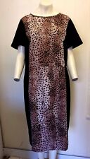 Gorgeous Black & Animal Print Shirt Sleeve Dress from South - Size 22 - BNWOT!