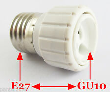 100x E27 Male to GU10 Female Socket Base LED Halogen CFL Light Bulb Lamp Adapter