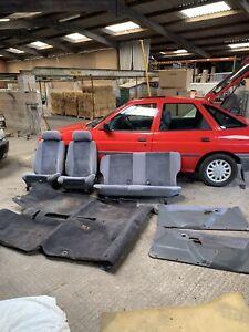 Ford Escort Xr3i Mk4 Front & Rear Seats Carpet Door Cards Interior Spares 90spec