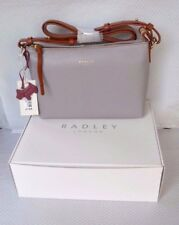Radley Gift Boxed Grey Leather Across Body Bag Guildhall BNWT RRP £169 Brand New