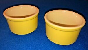 Cuisinant Set of 2 Warm Yellow Ramekin Bowls, 5 oz. Stoneware