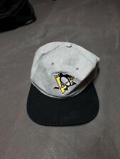 Vintage Pittsburgh Penguins Snap Back Hat Embroidered Symbol Used