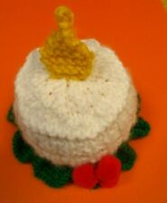 KNITTING PATTERN AND WOOL FOR A  CANDLE CHOCOLATE ORANGE COVER