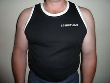 BEIYUAN Shearing Singlet Black or Blue Sizes 95-120 (S-XXXL) Poly Cotton Fleece