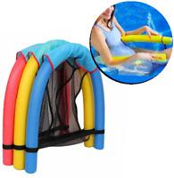 Schwimmnudel mit Netz Schwimmstuhl Schwimmstütze Wassersitz Nudel mit Netz