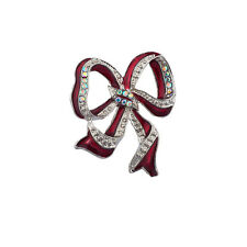 Christmas Ribbon brooch Lux Red Holiday