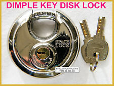 DISC LOCK / ROUND LOCK, 70MM, EXTRA-SECURE DIMPLE KEYS, DIFFICULT TO DUPLICATE
