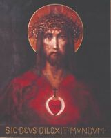 "Catholic print picture -  SACRED HEART OF JESUS 1 -  8"" x 10"" ready to be framed"