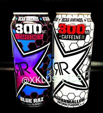 "New! Rockstar Energy Xdurance Marshmallow/Blue Raz 300mg"" Includes 2 Full Cans"