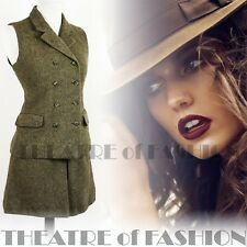 JACKET SKIRT SUIT COAT TWEED WAISTCOAT VINTAGE LAURA ASHLEY LADY OF THE MANOR