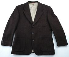 Jos A. Bank Men's Brown Three-Button Wool Blazer Sport Coat Size 42R