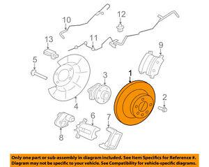 VOLVO OEM 07-16 S80 Rear Brake-Rotor 31471028